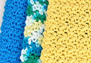 easy crochet beginner pattern dishcloth