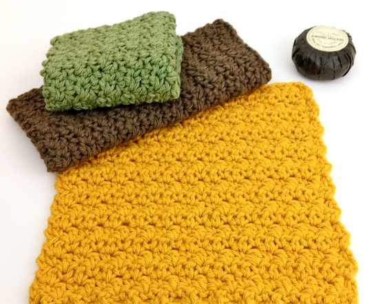 Crochet washcloth pattern easy free discloth
